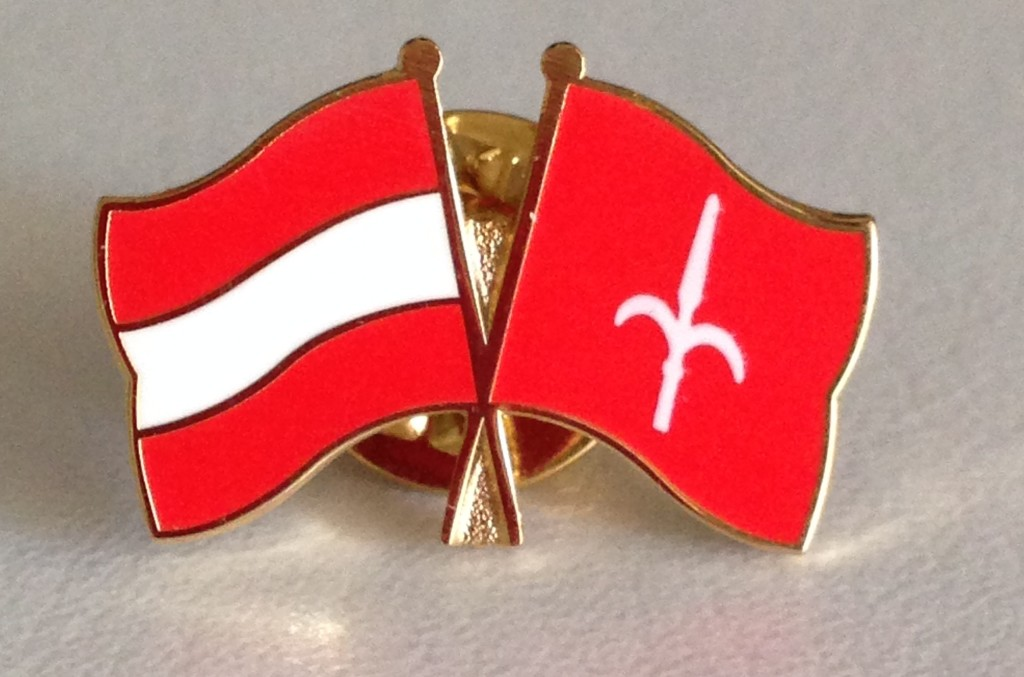 Friendship pin: Austria & Free Territory of Trieste