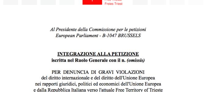 Petizione europea di Trieste Libera: nuovi documenti e prime adesioni internazionali