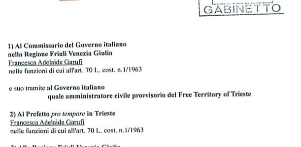 Trieste Libera chiede la sospensione della tassazione italiana all'E.Z.I.T.