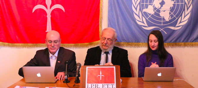 I.P.R. F.T.T. press conference about UN document S/2015/809 confirming the Free Territory of Trieste