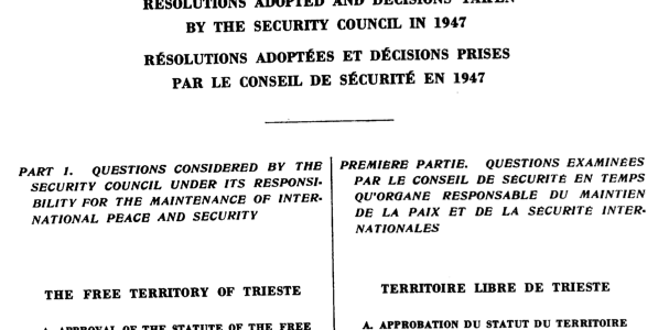 DEMILITARIZATION AND NEUTRALITY OF THE FREE TERRITORY OF TRIESTE: THE VIOLATION OF THE TREATY OF PEACE COMMITTED BY THE STATE OF ITALY