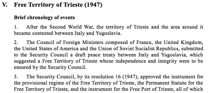 THE LEGAL STATUS OF THE FREE TERRITORY OF TRIESTE AND THE JUDICIAL QUESTION
