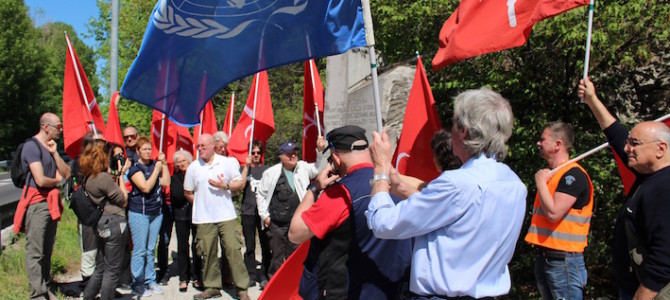 ON THE BORDER OF THE FREE TERRITORY OF TRIESTE