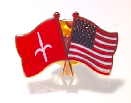 Friendship pin: United States & Free Territory of Trieste
