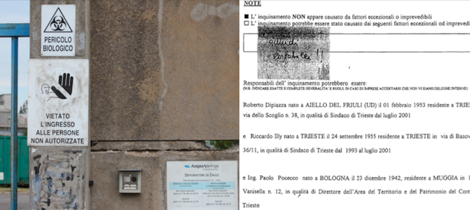 """THE BUSINESS OF """"GHOST"""" SEWAGE TREATMENT PLANTS AND POLLUTION IN THE GULF OF TRIESTE"""