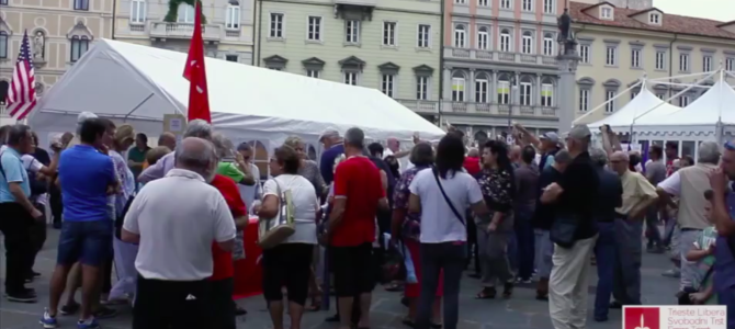 "Video: opening of exhibit ""Trieste thanks America – the Marshall Plan in the Free Territory"""