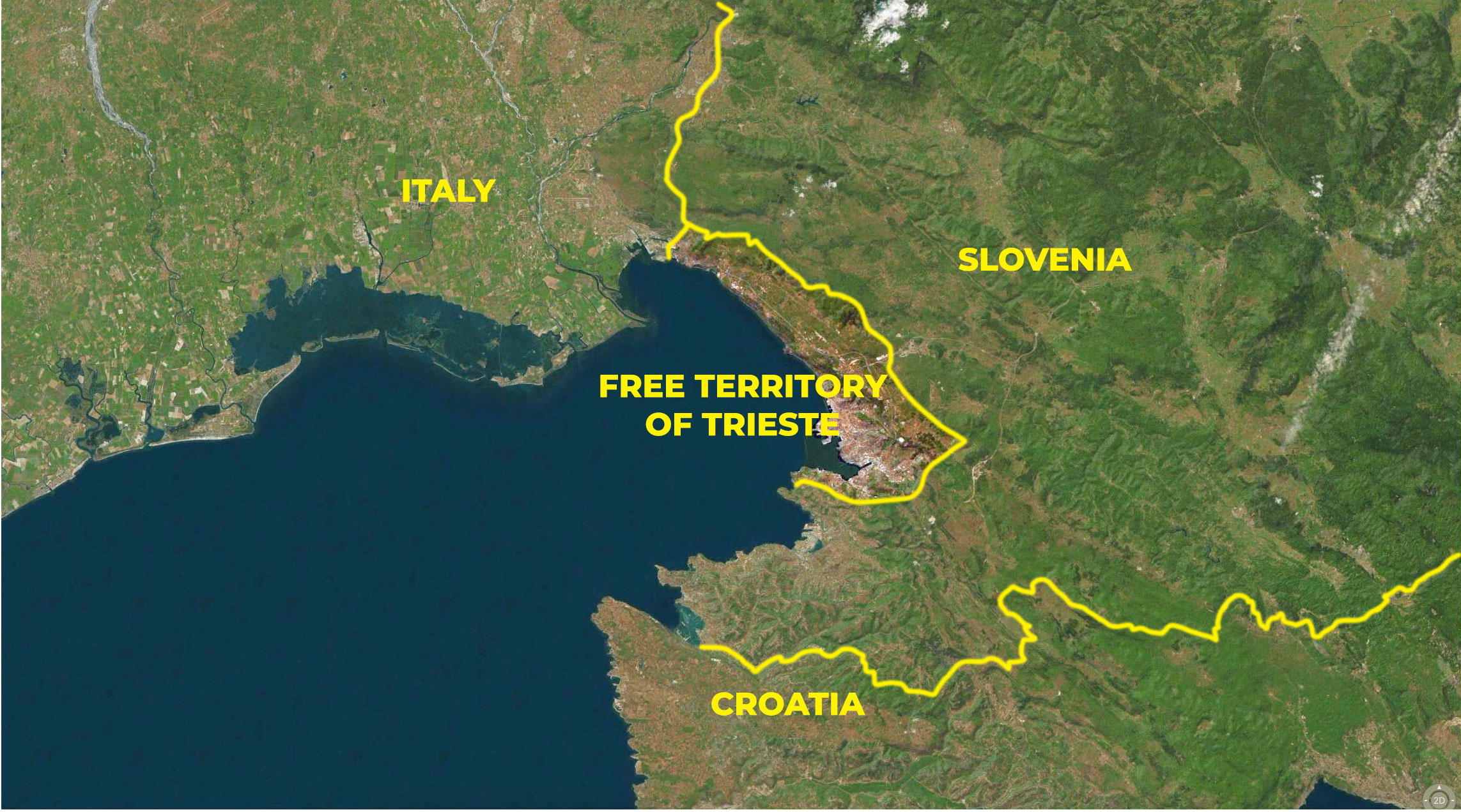 The present-day Free Territory of Trieste (since 1992).