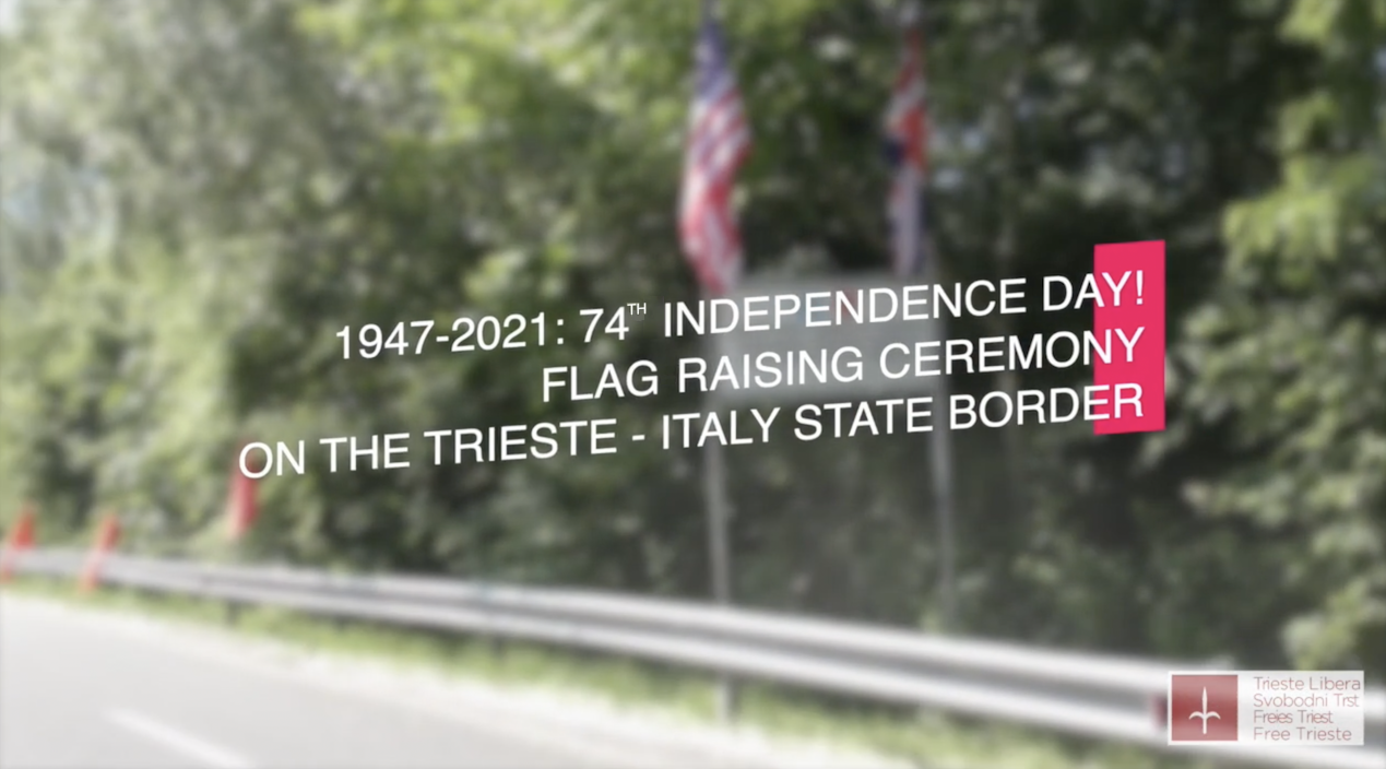 Trieste Independence Day 2021: flag raising ceremony on the border with Italy